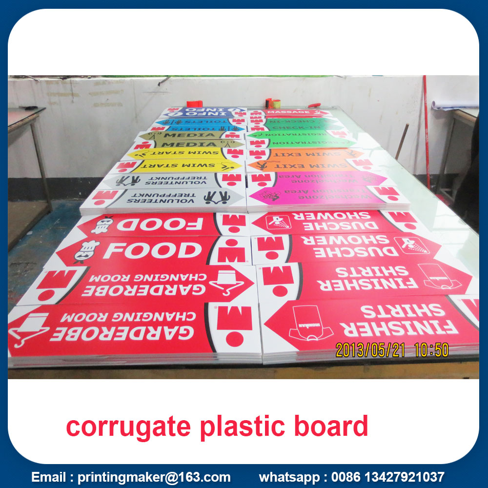 Corrugated Plastic Board Sheets Signs