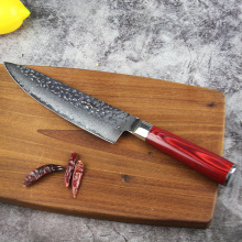 Damascus Steel Wood Ergonomics Handle knife