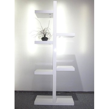 Cheap price for Hanging Bookshelves Modern white high gloss bookcase home bookself export to South Korea Supplier