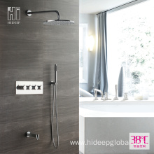 Best Quality for Single Handle Thermostatic Shower Faucet HIDEEP Bathroom Shower Thermostatic Rain Shower Faucet Set supply to Armenia Factory