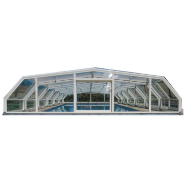 Sliding Deck Retractable Polycarbonate Swimming Pool Cover