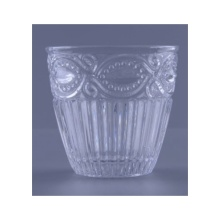 Glass Embossed Votive Cup