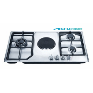 Built-in 3 Burners And 1 Electric Element