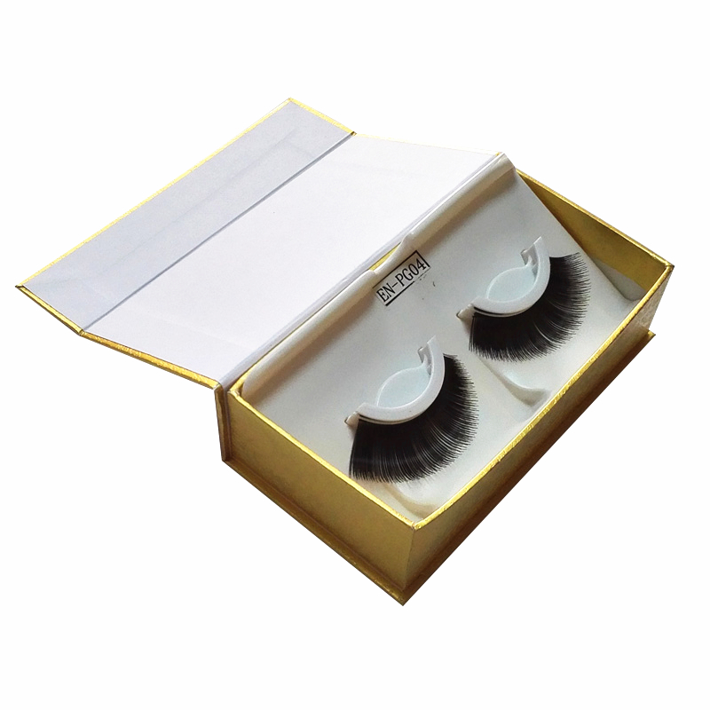Gold Paper Recycled Eyelash Box False Eyelashes Packaging