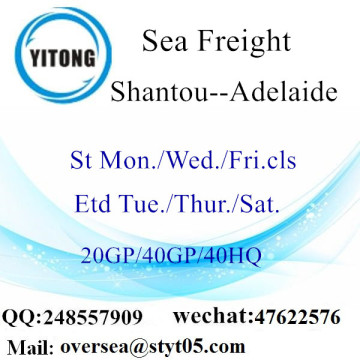 Shantou Port Sea Freight Shipping To Adelaide
