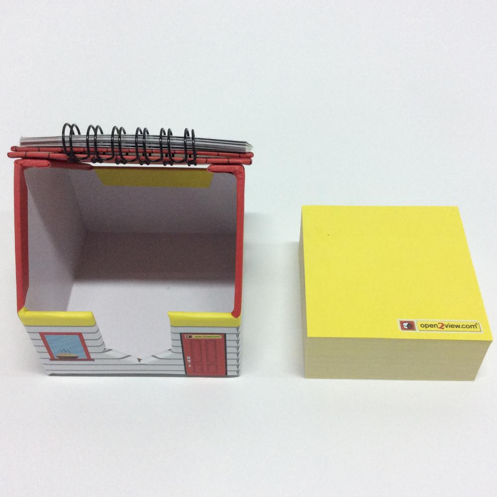 calendar house-shaped sticky note