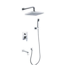 China New Product for Square Twin Head Mixer Shower 3 Function Outlet Water Concealed Shower Mixer supply to Poland Manufacturers