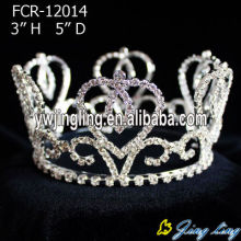 Custom Cheap Rhinestone Full Round Queen Crowns