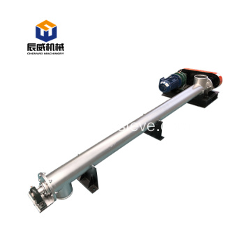 flexible jacket tube screw conveyor for silo