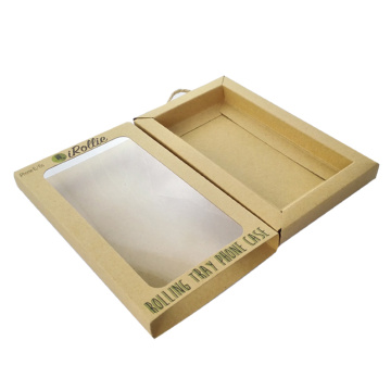 Handmade Kraft Paper Pvc Window Drawer box