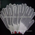 pvc knitted gloves /string knitted gloves