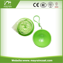 Disposable Emergency PE Rain Poncho in ball