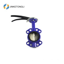 "JKTLWD005 wafer type stainless steel 5"" butterfly valve"