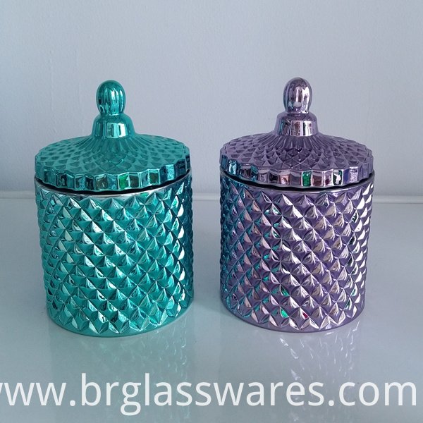 Electroplated glass jar for wedding