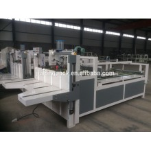 semi automatic folder gluer machine for corrugated carton