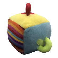 Plush Puzzle Dice Toy Rainbow