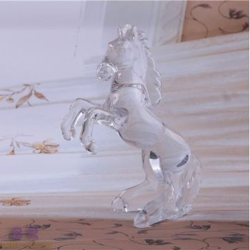 Best Quality for Glass Statues Hand Made Decorative Crystal Glass Horse supply to Trinidad and Tobago Manufacturers