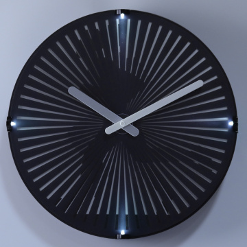 factory low price Used for Mid Light Wall Light Running Man Wall Clock with LED Lights supply to Vatican City State (Holy See) Supplier