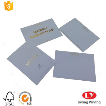 Matt white paper greeting jewellry card printing