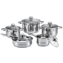 10 Pieces Stainless Steel Kitchen Cookware Set