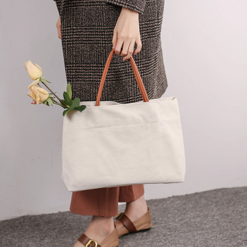 Custom Blank Cotton Canvas Shopping Tote Bag