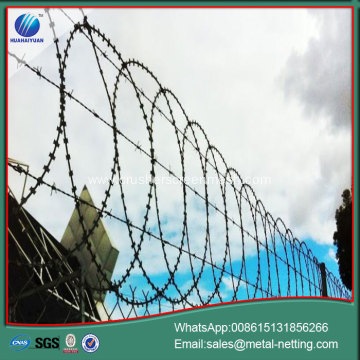 anti-climb razor wire security flat razor wall