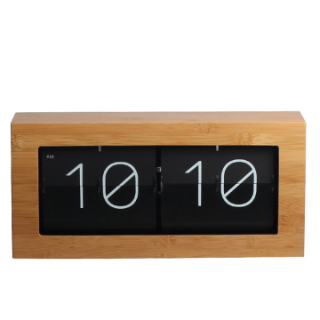 Best Quality for Metal Box Flip Clock Large Bamboo Wood Flip Clock for Desk Wall supply to Tokelau Supplier