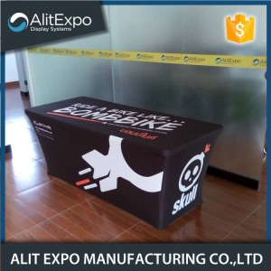 Promotional tension fabric display table cover