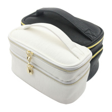 Professional White Brush Toiletry Kit Travel Cosmetic Bag
