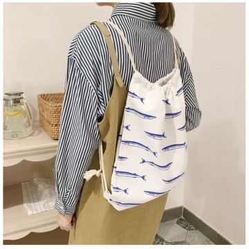Customize the fresh and artistic double shoulder bag