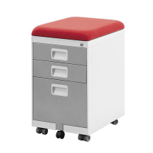 Office furniture movable filing mobile pedestal with cushion