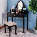 Eco friendly handmade black removable antique dressing table