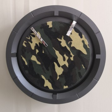 Best Quality for Decorative Wall Clock For Kitchen Exclusive Designed Wall Clock with Camouflage Fabric supply to Mozambique Supplier
