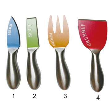Set of 4 Color cheese knife