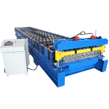 PLC Control Trapezoid Metal Roof Roll Forming Machine