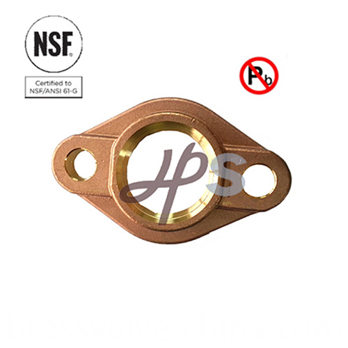 NSF-61 lead free brass water meter flange for AWWA meter