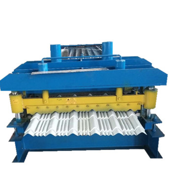 840 glazed steel roof tile roll forming machine