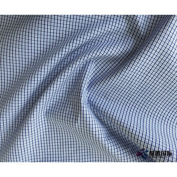 Plain Check 100% Cotton Shirt Fabric