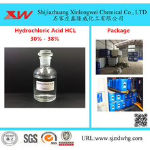 Excellent quality for Mineral Water Treatment Chemical HCL Muriatic Acid 30% to 38% Food Grade supply to France Importers
