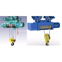 CD1 type wire rope electric hoist with trolley