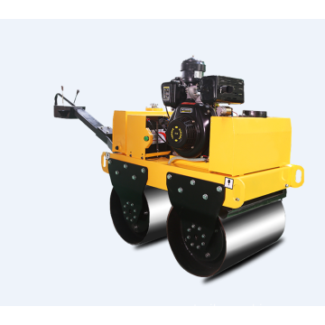 Hand-held small portable double drum road roller