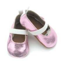 Wholesales Elastic Band Genuine Leather Baby Dress Shoes