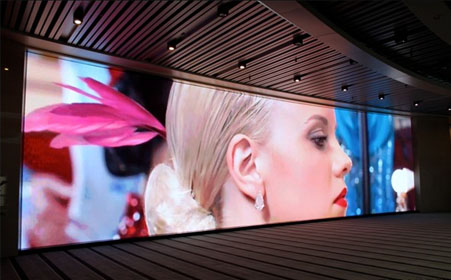 LED display case show