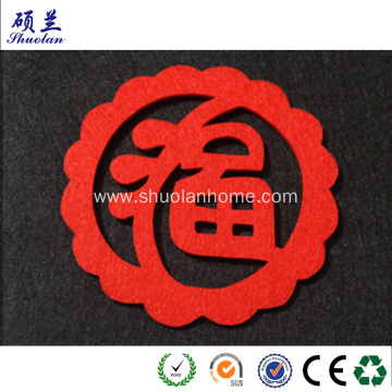 Felt paper cutting for Chinese new year