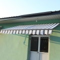 Retractable arms awning 3.6*1.5 Yellow and White Stripes