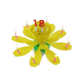 Birthday Rotated Chrysanthemum Music Candle