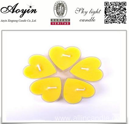 Yellow Tea Lights Candle Hot Sale