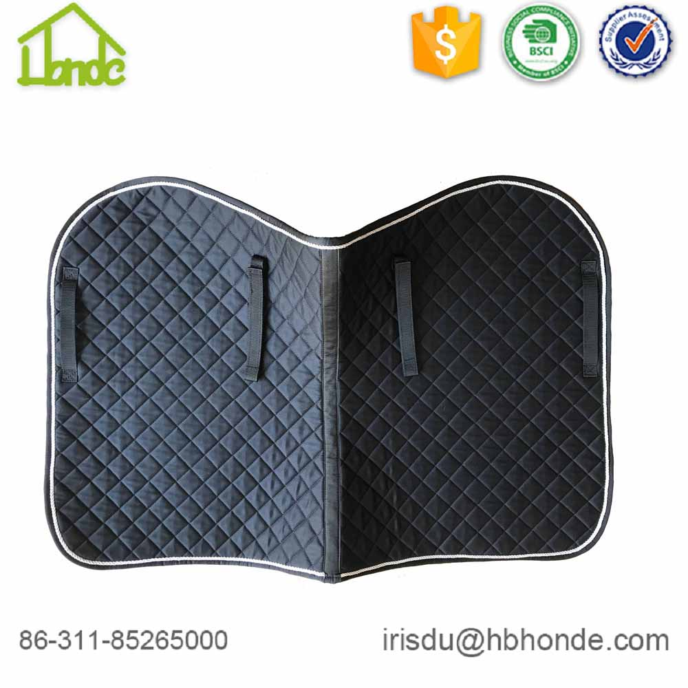 Horse Quilted Various Color English Saddle Pad