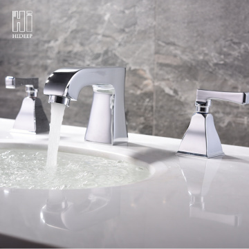 Brass Chrome Hot And Cold Water Basin Faucet