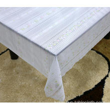 Printed pvc lace tablecloth fitted by roll